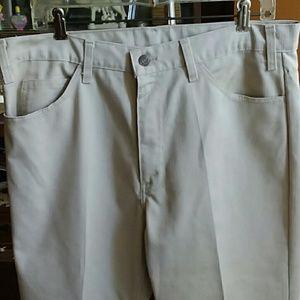 34x33 vintage levis 1970s ivory bootcut jeans